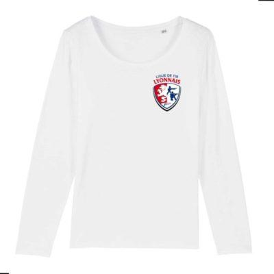T-shirt Femme manches longues 100% coton Bio - Ligue