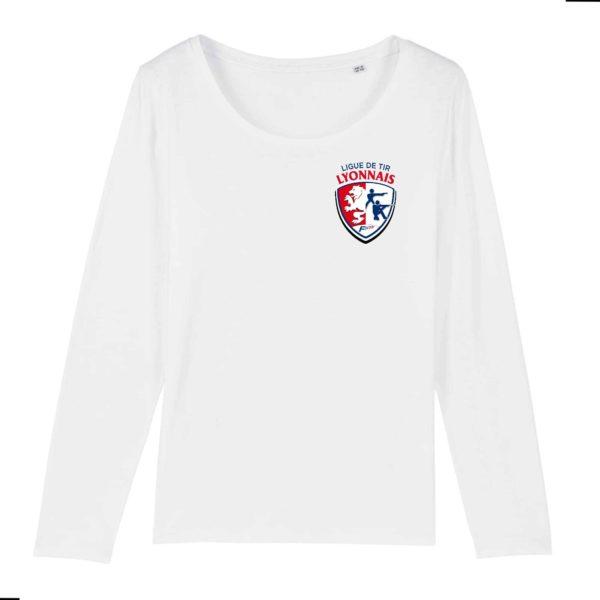 T-shirt Femme manches longues 100% coton Bio – Ligue